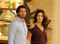 Fátima Bernardes, de férias, chega ao Recife e janta com namorado, Túlio Gadêlha