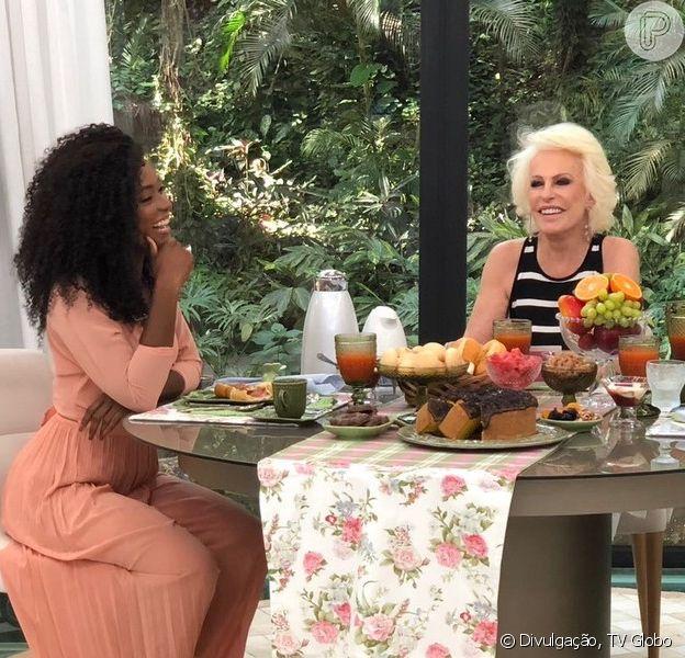 Erika Januza se assustou com pergunta de Ana Maria Braga no 'Mais Você', desta quinta-feira, 25 de janeiro de 2018: 'Estão namorando?'