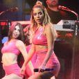 Anitta agita fãs no aniversário de 464 anos de São Paulo, nesta terça-feira, 25 de janeiro de 2018