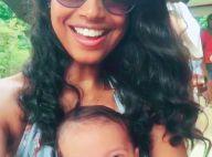 Aline Dias viaja pela 1ª vez com o filho de 2 meses: 'Voando com Bêzinho'