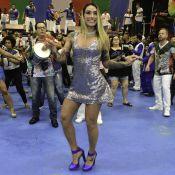 Madrinha de bateria, Dani Bolina entrega dieta em dia de desfile: 'Macarrão'