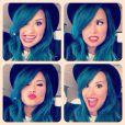 Demi Lovato muda de visual novamente e exibe ombré hair roxo