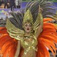Paloma Bernardi foi destaque de chão da Grande Rio no carnaval 2015
