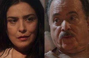 'Tempo de Amar': José Augusto descobre compra de terras por Delfina. 'Sei tudo!'
