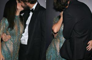 Tatá Werneck, com look transparente, ganha beijo de Rafael Vitti em baile. Fotos