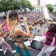 Pabllo Vittar cantou seus sucessos ao se apresentar no Bloco da Preta, no Centro do Rio de Janeiro, na manhã deste domingo, 4 de fevereiro de 2018