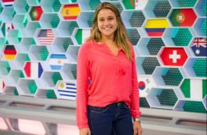 Longe de casa por causa da Copa, Fernanda Gentil ganha visita de marido e cadela