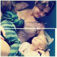 Carolinie Figueiredo teve seus dois filhos, Bruna e Theo, de parto normal