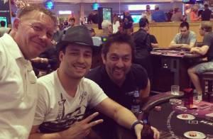 Rodrigo Andrade curte cassino em Las Vegas durante lua de mel com Joyce de Paulo