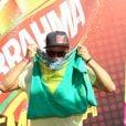 Paulinho Vilhena mostra torcida pelo Brasil no Brahma Deck antes de jogo entre França e Alemanha no Maracanã, no Rio de Janeiro