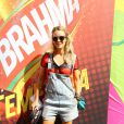 Christine Fernandes vai ao Brahma Deck antes de jogo entre França e Alemanha no Maracanã, no Rio de Janeiro