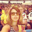Maria Ribeiro curtem jogo da Alemanha contra a França no Maracanã