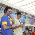 Bruno Mazzeo e Paulinho Vilhena vão ao Maracanã assistir jogo entre Alemanha x França