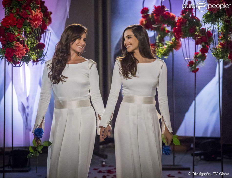 Giovanna Antonelli faz balanço do casal Clara e Marina: 'Quebramos barreiras' (16 de julho de 2014)