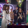 A gravação do casamento reuniu boa parte do elenco de 'Em Família'