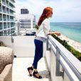 Sophia Abrahão elogia a paisagem do hotel Soho Beach House: 'Maravilhosa'