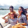 Sophia Abrahão faz passeio de lança em Miami, nos Estados Unidos