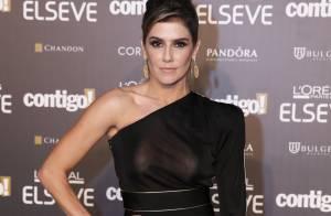 Deborah Secco brilha com look transparente em noite de prêmio: 'Ganhei uns 3 Kg'