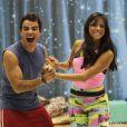 Anderson Di Rizzi e a bailarina Tainá Grando estão entrosados na disputa do quadro 'Dança dos Famosos'