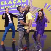 'Tudo pela Audiência' promove beijo gay e Tatá Werneck beija senhora da plateia