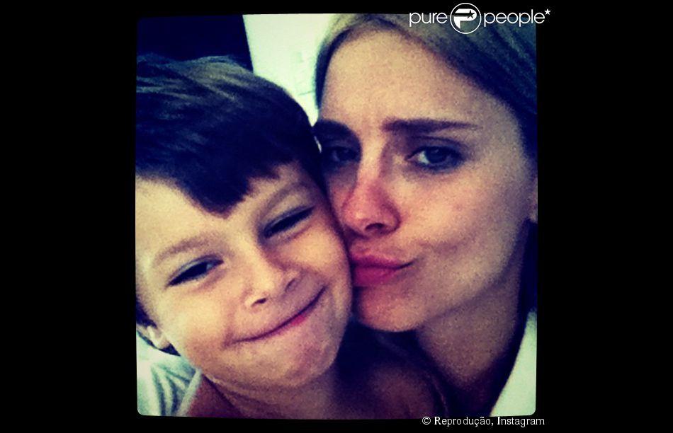 José, filho da atriz Carolina Dieckmann com Tiago Worcmann, completa 7 anos nesta quinta-feira, 14 de agosto de 2014
