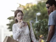 Novela 'Império': Maria Isis (Marina Ruy Barbosa) atrai olhares ao tomar sorvete