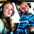 O casal fez um passeio de helicóptero em dezembro de 2012