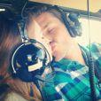 Um beijinho no helicóptero!