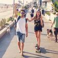 Mathias Studart, jovem baiano que mora na cidade norte-americana e trabalha como guia turístico, tem acompanhado Bruna Marquezine nos passeios