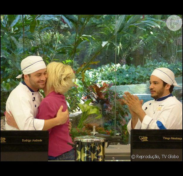 Rodrigo Andrade foi o terceiro eliminado do quadro 'Super Chef Celebridades', do programa 'Mais Você' desta segunda-feira, 25 de agosto de 2014