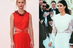 Claire Danes usa o mesmo vestido de noiva de Kim Kardashian, no Emmy 2014