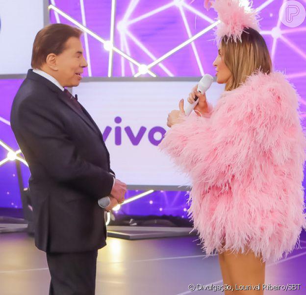 Claudia Leitte se pronunciou após Silvio Santos se recusar a abraçá-la alegando que ia ficar 'excitado' no Teleton 2018