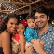 Aline Dias recebe Yolanda, filha de Juliana Alves, em festa de 1 ano de Bernardo