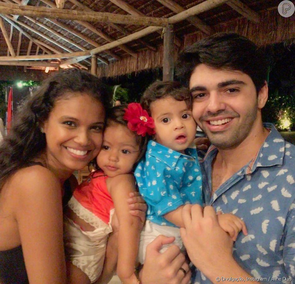 Aline Dias celebrou 1 ano do filho, Bernardo, fruto do relacionamento com Rafael Cupello, neste domingo, 11 de novembro de 2018