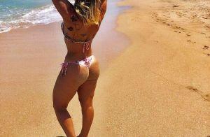 Zilu Camargo usa biquíni cruzado de cintura alta e ganha elogios: 'Que corpo'