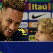 Em coletiva, filho de Neymar faz pedido divertido para jogo: 'Dança do pombo'