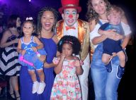 Juliana Alves leva a filha, Yolanda, para se divertir em circo no Rio. Fotos!