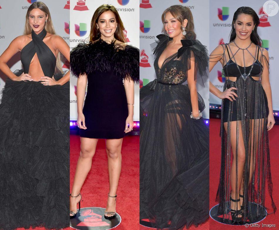 4c79975e9 Veja fotos dos looks das famosas no Grammy Latino 2018, realizado em Las  Vegas,