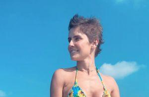 Lua de mel radical! Deborah Secco e Hugo Moura andam de flyboard nas Maldivas