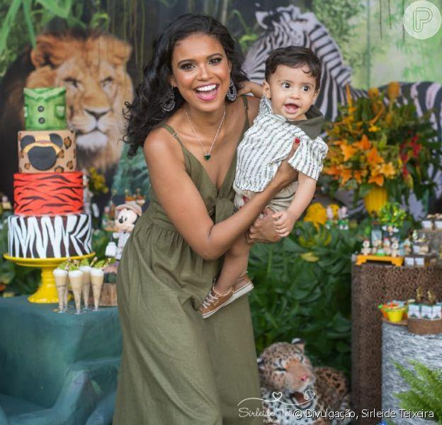Festa de Bernardo, filho de Aline Dias, teve como tema Safari do Mickey