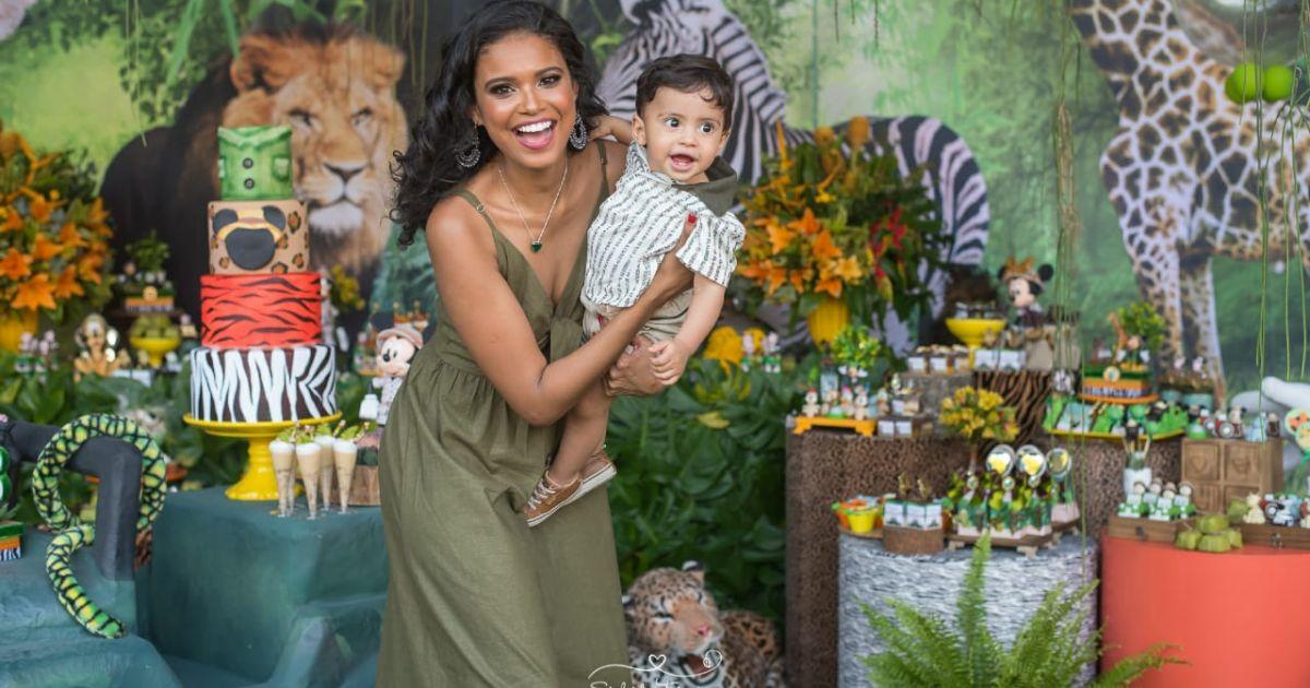 03b32a6b5c5f3b Festa de aniversário do filho de Aline Dias tem como tema Safari do ...