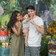 Aline Dias e Rafael Cupello celebraram o aniversário de 1 ano do filho