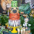 A festa de aniversário do filho de Aline Dias teve como tema Safari do Mickey