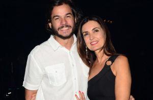 Namorado mostra foto divertida com Fátima Bernardes em museu: 'Fazemos a festa'