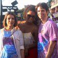 Juliana Alves também esteva por lá, ao lado dos promoters Liège Monteiro e Luiz Fernando Coutinho