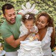 Roberta Rodrigues  fez homenagem para filha no dia do batizado