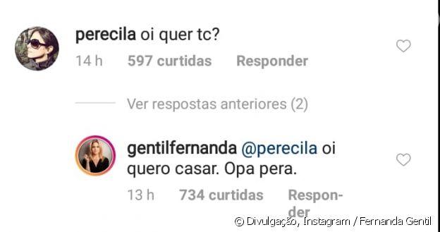 Fernanda Gentil responde comentário da namorada, Priscila Montandon