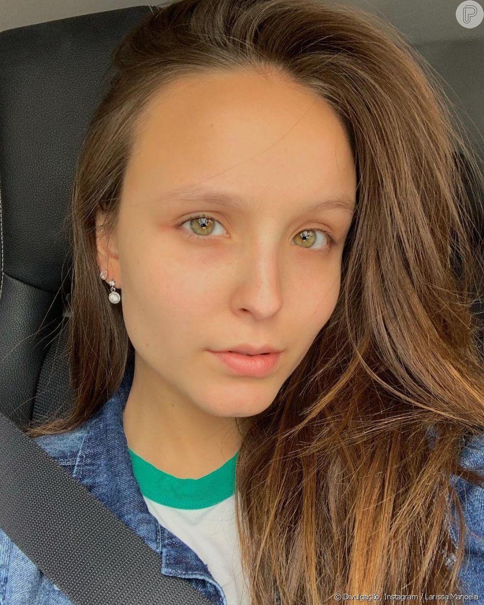 900f2408fb3dd Larissa Manoela publicou foto sem maquiagem no Instagram nesta  quinta-feira