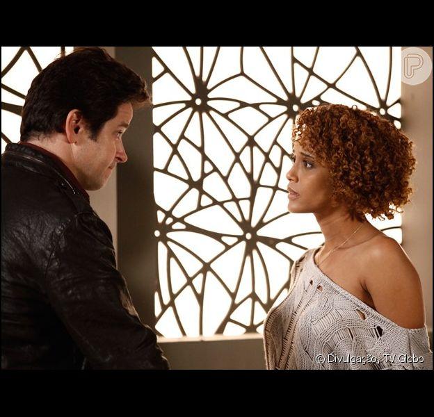 Verônica (Taís Araújo) decide terminar seu relacionamento com Jonas (Murilo Benício), em 'Geração Brasil', em 15 de setembro de 2014