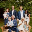Um dos cliques mais recentes de Meghan Markle foi a foto em família na comemoração dos 70 anos de Príncipe Charles